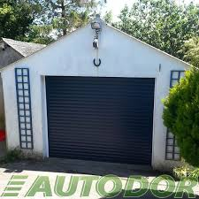 automatic blue insulated garage door