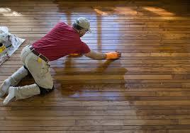 Hardwood floor panelling + finishing.