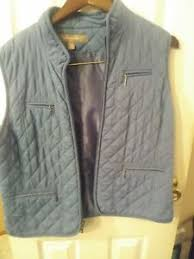 Croft And Barrow Quilted Vest with Pockets Blue Woman's Size M | eBay & Image is loading Croft-And-Barrow-Quilted-Vest-with-Pockets-Blue- Adamdwight.com