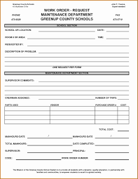service work orders template lovely collection of service work order template