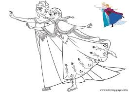 frozen christmas coloring pictures. Interesting Frozen Sisters Elsa And Anna Having Fun Frozen Christmas Coloring Pages Throughout Coloring Pictures C