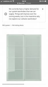 ikea frosted glass wardrobe doors in