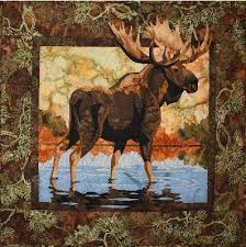 Hidden Lake Moose Toni Whitney Animal by AliceInStitchesArts ... & Hidden Lake Moose Toni Whitney Animal Fusible Applique Quilt Pattern and  Fabric Adamdwight.com