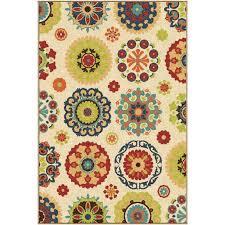 orian rugs indoor outdoor medallion hubbard multi area rug 6 5 x 9