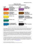 Ansi Color Chart Standards Ansi Z535 Color Chart