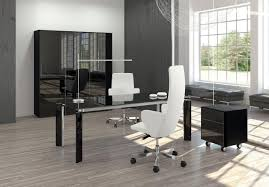 white modern office chair white rolling. Black Glass Office Desk With White Leather Chairs Also Rolling Cabinet Modern Chair .