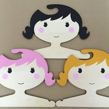 Baby Coat Rack Beauteous Cartoon Princess Girls Wooden Children Clothes Hanger Lovely Wood
