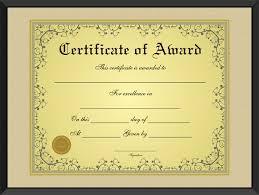 Free Golden Formal Award Certificate Template