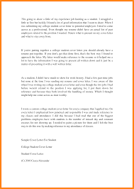 College Resume Cover Letter College Student Cover Letter Sample Choice Image Cover Letter Sample 82