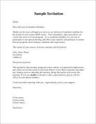 Template Sample Board Meeting Invitation Details File Format Formal