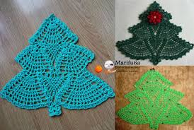 Crochet Christmas Tree Pattern Amazing How To Crochet Christmas Tree Doily Hot Pad Pattern By Marifu48a