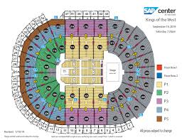 Sharks Interactive Seating Chart Kings Of The West Snoop Dogg Ice Cube E 40 Warren G And
