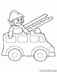 Disegni Da Colorare Giocattolo Camion Dei Pompieri