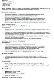 Cosmetologist Resume Resume Template Impressive For Cosmetologist Instructor Student 73