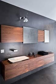 bathroom minimalist design. Modern Bathroom Minimalist Design Gray Wall Color Mounted Vanity Cabinet Sink