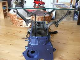 motor coffee table for making a 4 cylinder engine into a coffee table