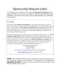 Sample Letter For Charity Sponsorship Donation Request Write