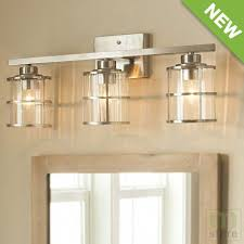 Allen Roth 3 Light Vanity Bar With Clear Ribbed Glass Shades