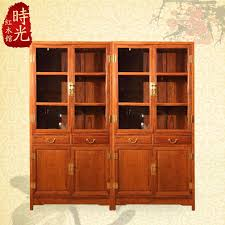 2019 rosewood mahogany furniture chinese antique bookcase double door glass display cabinet wood bookcase lockers locker from xwt5242 4841 33 dhgate