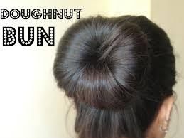 How To Make A Hair Style how to make a bun using a hair doughnut youtube 7506 by wearticles.com