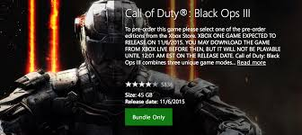 cod infinite warfare install size call of duty black ops 3 download size revealed on xbox store