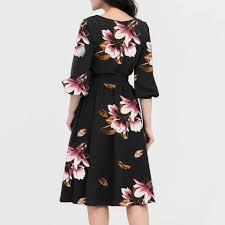 Half Sleeve Pocket Design High Waist Dress Girls Dress 2020 A Line Women Elegant O Neck Half Sleeve Pocket Sashes Knee Length Casual Dress Off Shoulder Party Vestido 5