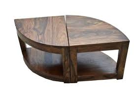 solid wood round coffee table uk