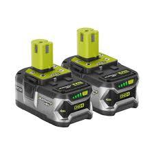 ryobi 18 volt one lithium ion high capacity lithium 4 0 ah battery 2