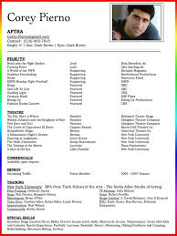 Beginner Actor Resume Sample Actors Resume Template for Beginners Free for You Acting Resume 25