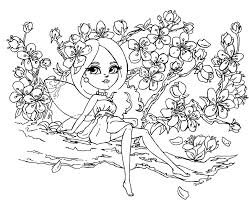 Small Picture Cherry Blossom Tree Coloring Sheet Coloring Pages Ideas