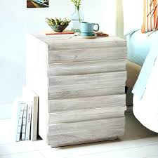 wooden bedside tables white stained oak cabinet washed side table whitewash timber pallet for