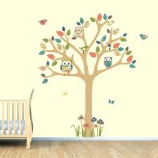 owl tree wall decal white owl tree wall decal owl scroll tree wall decal