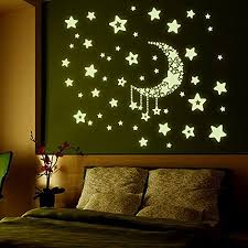 amazon prime on removable wall decor stickers with amaonm removable diy glow in the dark luminous light moon stars