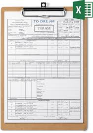 Call Sheet Template For Excel Free Download Sethero