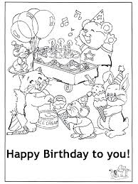 Happy birthday giant panda bamboo greeting cards. Free Printable Coloring Birthday Cards Coloring Home