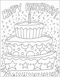 Archaicawful Happy Birthday Coloring Pages For Adults Mom Free