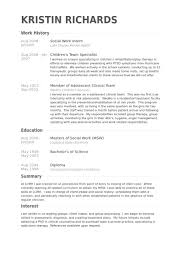 Social Work Resume Sample Simple Social Work Internship Resumes Kenicandlecomfortzone