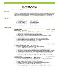Sample Resume General Manager Stunning Best Restaurant B General Resume Examples Angelsportschirmer