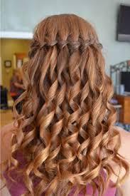 Hairstyle Waterfall simple waterfall braid & curls hair and beauty tutorials 1417 by stevesalt.us