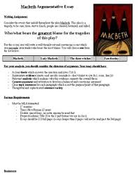 macbeth essay teaching resources teachers pay teachers macbeth essay prompt macbeth essay prompt