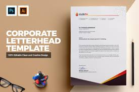 Psd Letterhead Template Creative Letterhead Template Stationery Templates Creative Market 19