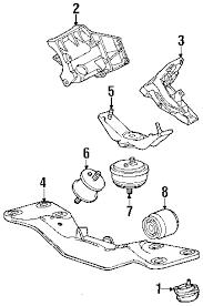 parts com® bmw 740i engine trans mounting oem parts 2001 bmw 740i base v8 4 4 liter gas engine trans mounting