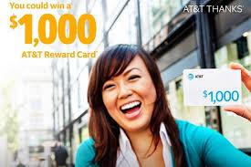 win 1000 at t reward card