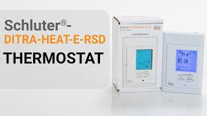 schluter® ditra heat e rsd thermostat installation schluter® ditra heat e rsd thermostat installation
