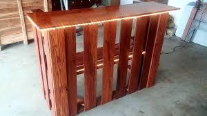 diy pallet bar. Recycled Wooden Pallet Bar With Lights Diy I