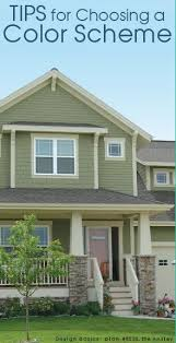 exterior paint color combinations with stone. i love the sage green paint and off white trim. idea for painting exterior of house? color house stone on porch combinations with d
