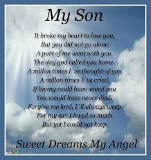 Loss Of A Son Quotes Gorgeous Missing My Son Poems