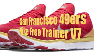 nike 49ers shoes. 2017 nike free trainer v7 collection shoes for nfl teams 49ers