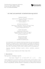 pdf on the logarithmic schrodinger equation