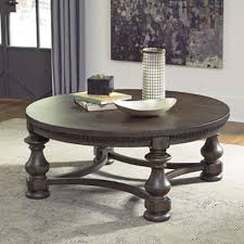 laron round cocktail table grayish brown set of 1 t890 8 for stylish home ashley furniture round coffee table prepare